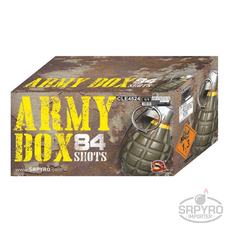 CLE4524 ARMY BOX 64x30mm 20x48mm 84s 1/1 F3